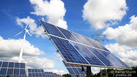 Ökostrom Solar und Windkraft